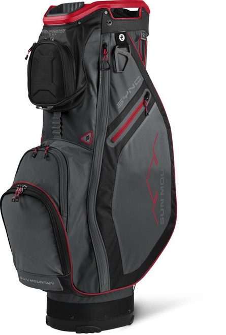 Sun Mountain Sync Cart Bag - Gunmetal / Black / Red