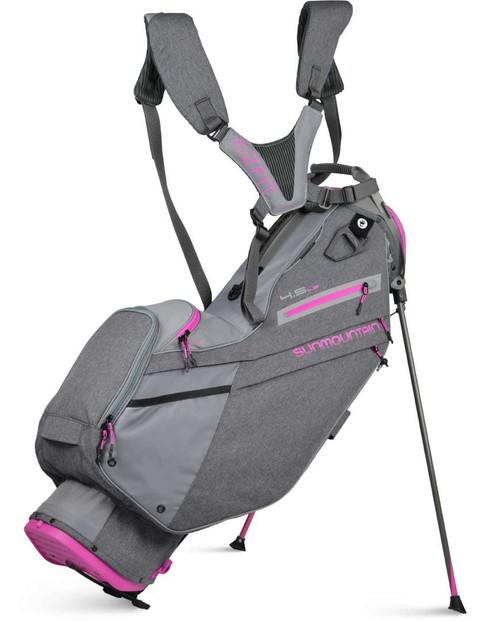 Sun Mountain Womens 4.5 LS Stand Bag - Carbon/Cadet/Fuschia