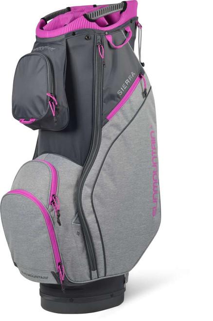 Sun Mountain Womens Sierra Cart Bag - Gunmetal / Charcoal / Fuschia