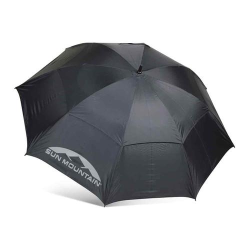"Sun Mountain 62"" Manual UV Umbrella - Black"