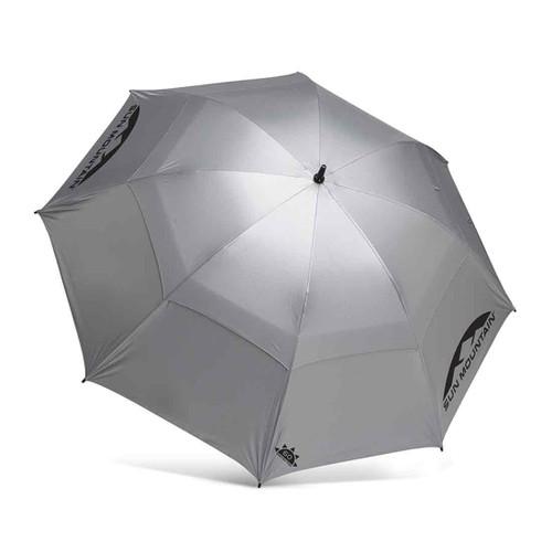 """Sun Mountain 62"""" Manual UV Umbrella - Silver"""