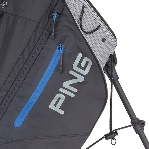 PING Hoofer Craz-E Lite Personalized Stand Bags - Black / Grey / Blue