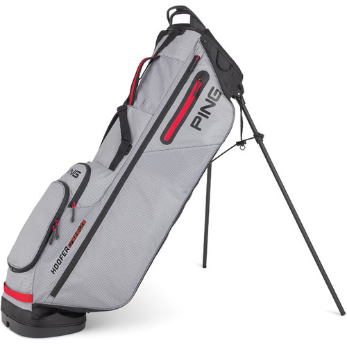 PING Hoofer Craz-E Lite Personalized Stand Bags - Grey / Black / Scarlet