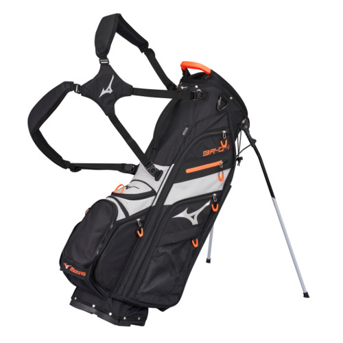 Mizuno BR-D4 Stand Bag 2021 - Black / Grey