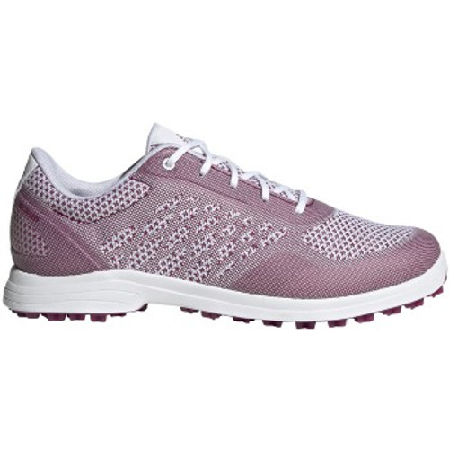 Adidas Womens ALPHAFLEX Sport Golf Shoes - White / Pink Berry / White