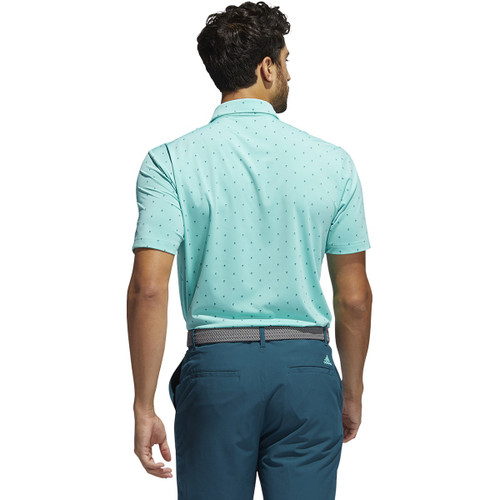 Adidas Ultimate 365 Print Polo - Acid Mint / Wild Teal