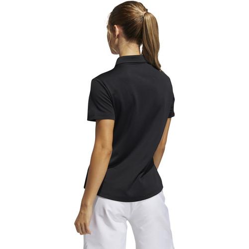 Adidas Womens Performance Short Sleeve Polo - Black
