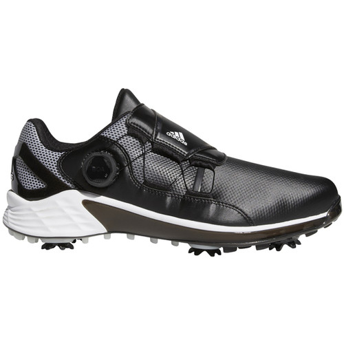 Adidas ZG 21 BOA Golf Shoes - Black / White / Solid Grey