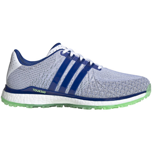 Adidas Tour 360 XT Spikeless Textile Golf Shoes - White / Team Royal Blue / Glory Mint
