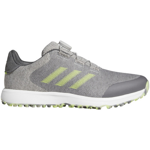 Adidas S2G BOA Golf Shoes - Grey Two / Solar Yellow / Grey Five