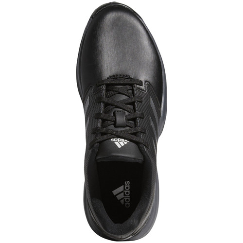 Adidas ZG 21 Junior Golf Shoes - Black / Silver / Dark Silver Metallic