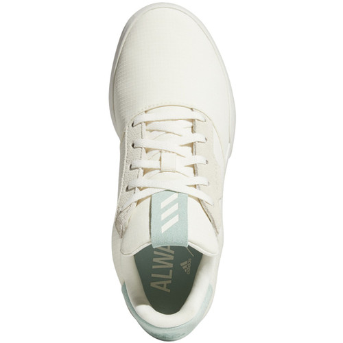 Adidas Adicross Retro Junior Golf Shoes- Chalk White / Hazy Green / Gum
