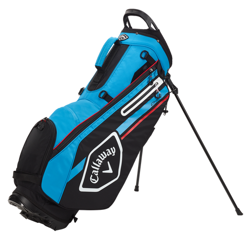 Callaway Chev Stand Bag 2021 - Black / Cyan / Fire Red