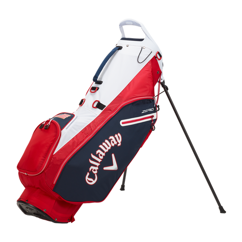 Callaway Hyperlite Zero Double Strap Stand Bag - Navy / Red / White Flag