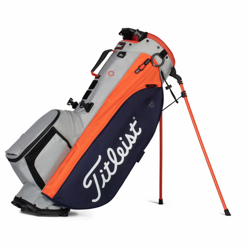 Titleist Players 4 Plus Stand Bag 2021 - Gray / Navy / Flame