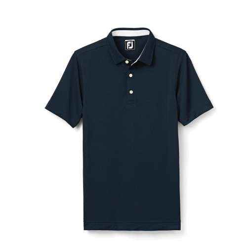FootJoy Junior Solid Pique Polo - Navy (26635)