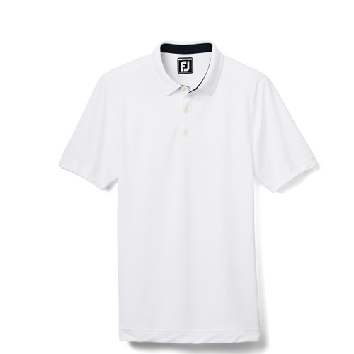 FootJoy Junior Solid Pique Polo - White (26634)