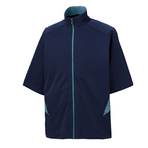 FootJoy HydroKnit Short Sleeve Jacket- Navy / Denim (23794)