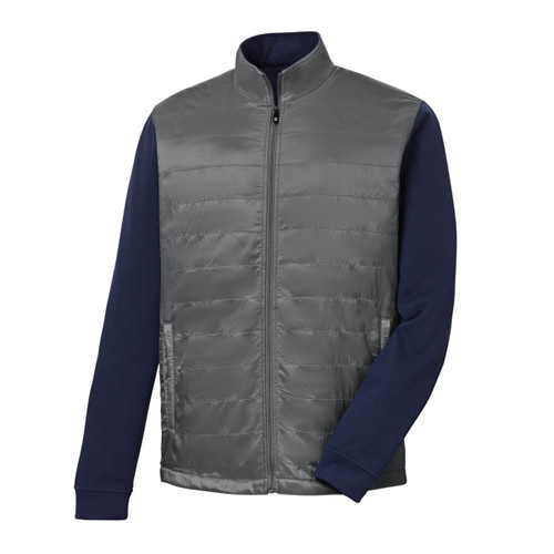 FootJoy Full-Zip Hybrid Jacket - Charcoal / Navy (25210)