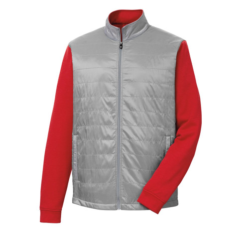 FootJoy Full-Zip Hybrid Jacket - Grey / Red (25213)