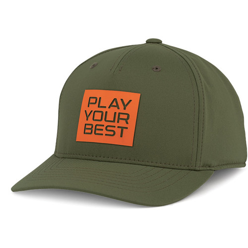 PING Stacked PYB Cap - Olive / Orange