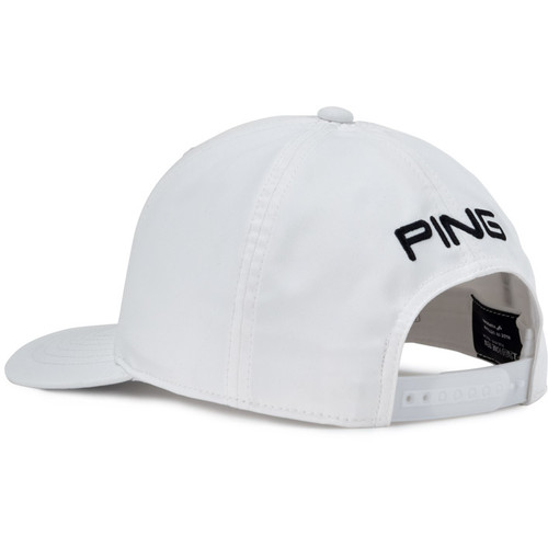 PING Mr. PING Tour Snapback Golf Cap - White