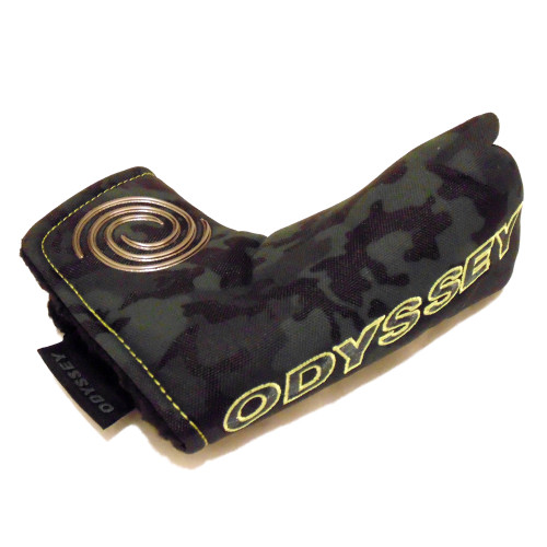 Odyssey Camo Blade Putter Headcover - Camo / Neon Yellow / Titanium