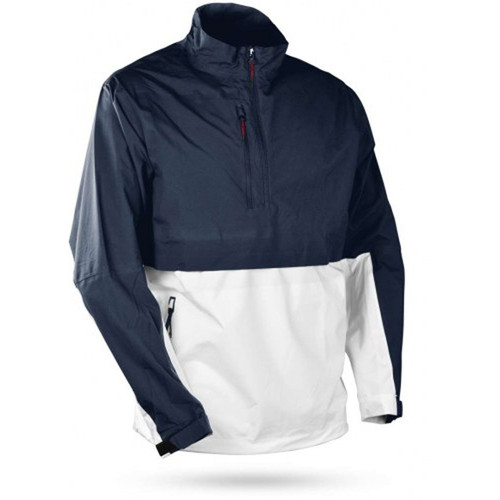 Sun Mountain Stratus Long Sleeve Pullover - Navy / White / Red