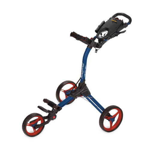 BagBoy Compact 3 Push Cart - Navy / Red