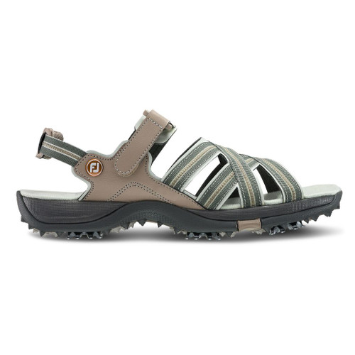 FootJoy Womens Golf Sandals - Tan / Light Grey (48446)