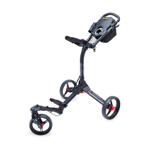 BagBoy TriSwivel II Push Cart - Matte Black / Red
