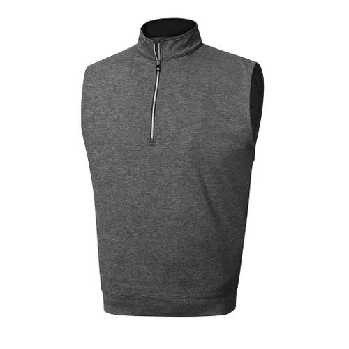 FootJoy Performance Half-Zip Vest Heather - Charcoal (23012)