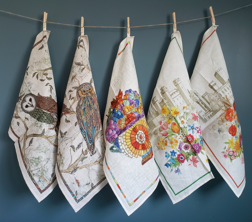 'Monreale Alzata' Sicilian Mosaic Towel