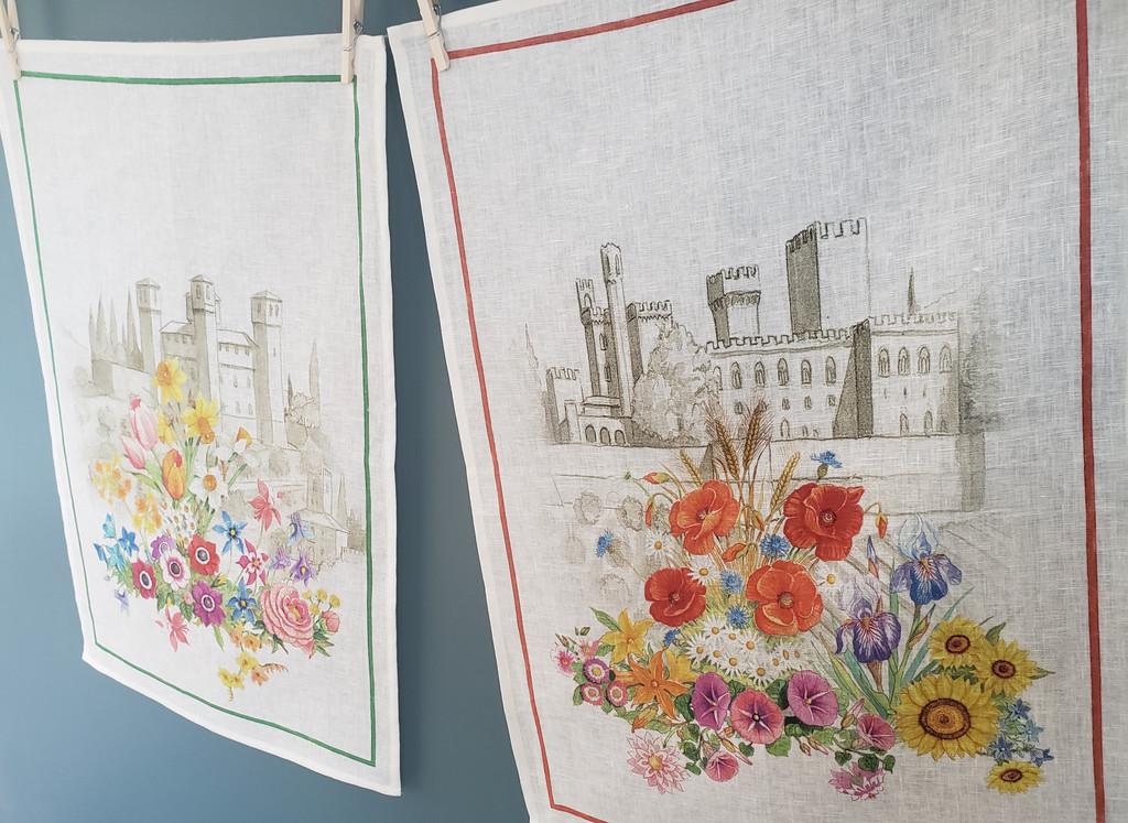 'Floralia Rosso' Towel