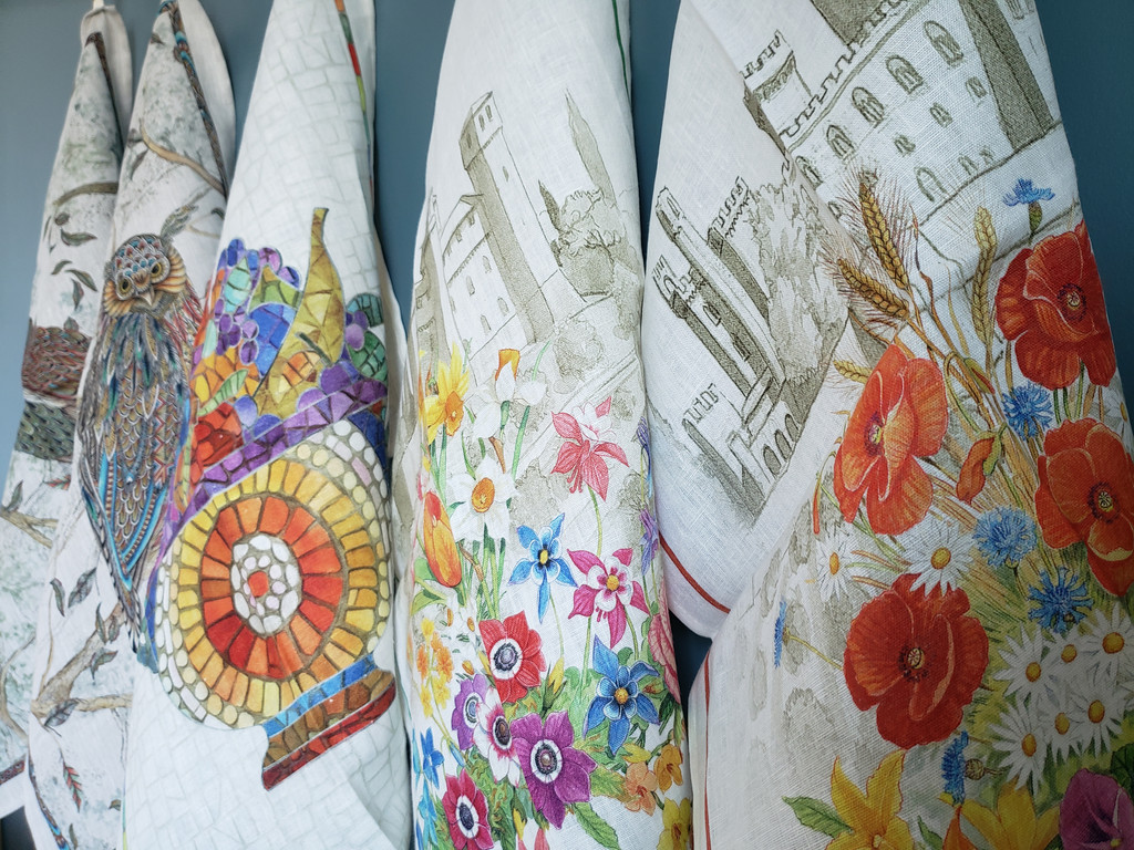 'Floralia Verde' Towel