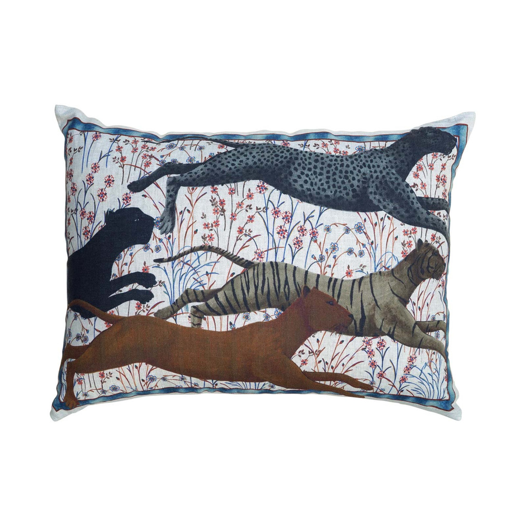 'Roar' Big Cats Throw Pillow Cover