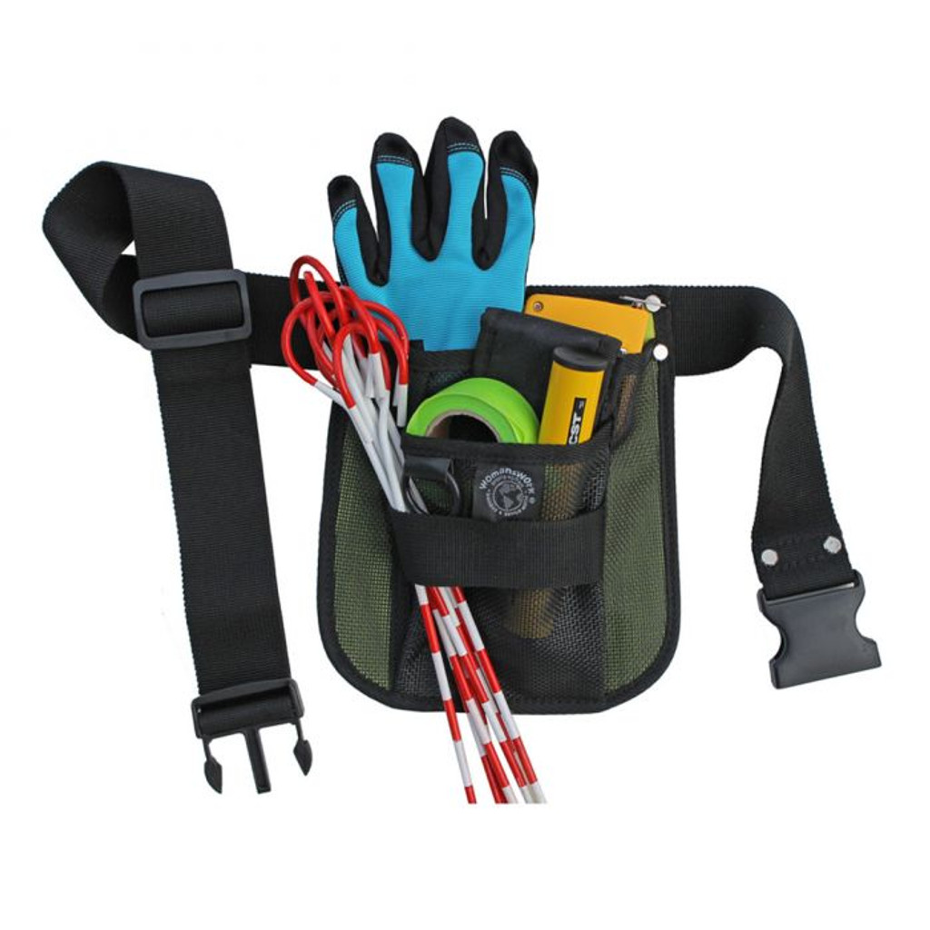 Pictured in green version of holster to show tools.