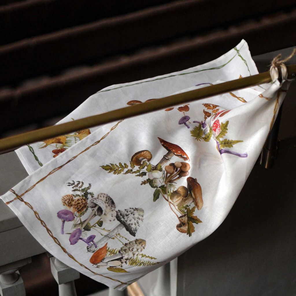 'Rigoletto' Autumn Mushroom Kitchen Towel