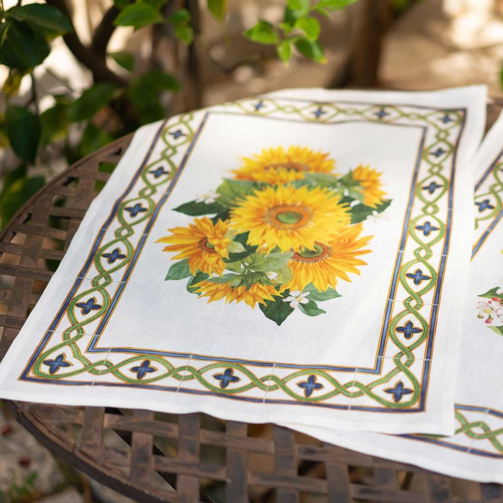 'Etruscan Garden' Girasole Kitchen Towel