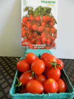 The real thing is even prettier than the picture with Franchi's Red Cherry tomato.