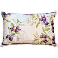'Aida' Olive Branch Throw Pillow Cover