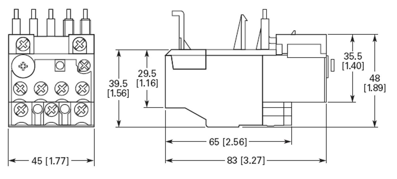 EATON XTOB016CC1 16 AMP Thermal Overload Relay