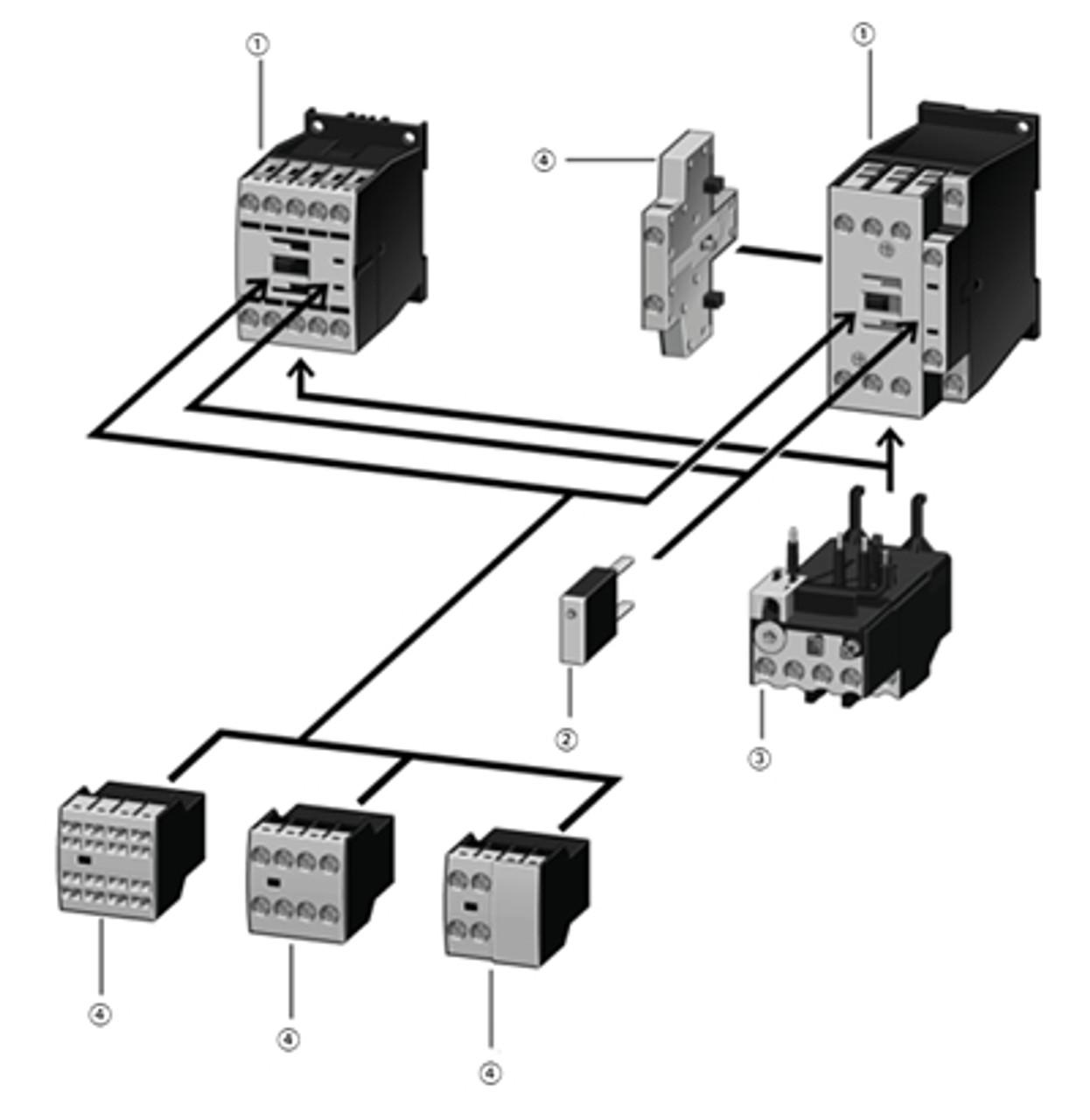 Klöckner-Moeller DIL00M-G 24VDC 3-pole Relay