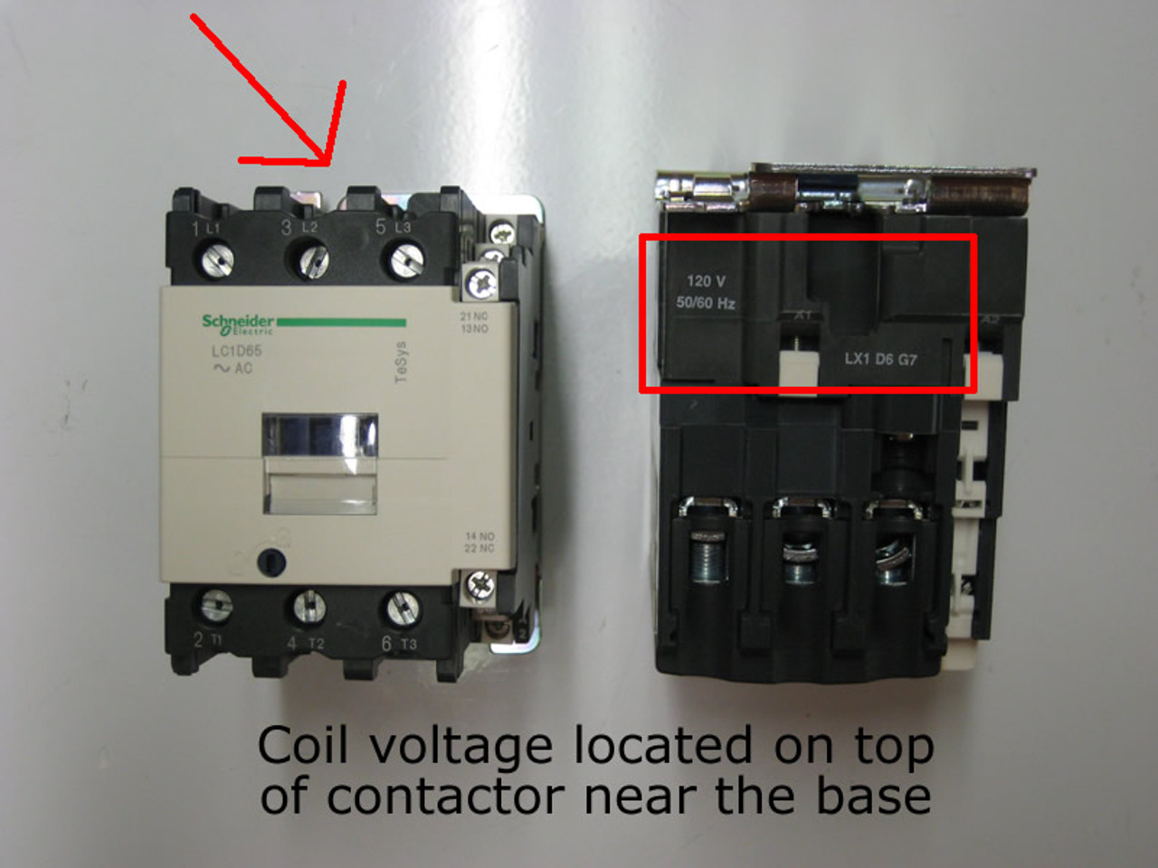 Contactor LC1D25M7C Coil 220VAC 40A 50/60Hz 11kw 480V 20hp/600VAC ...