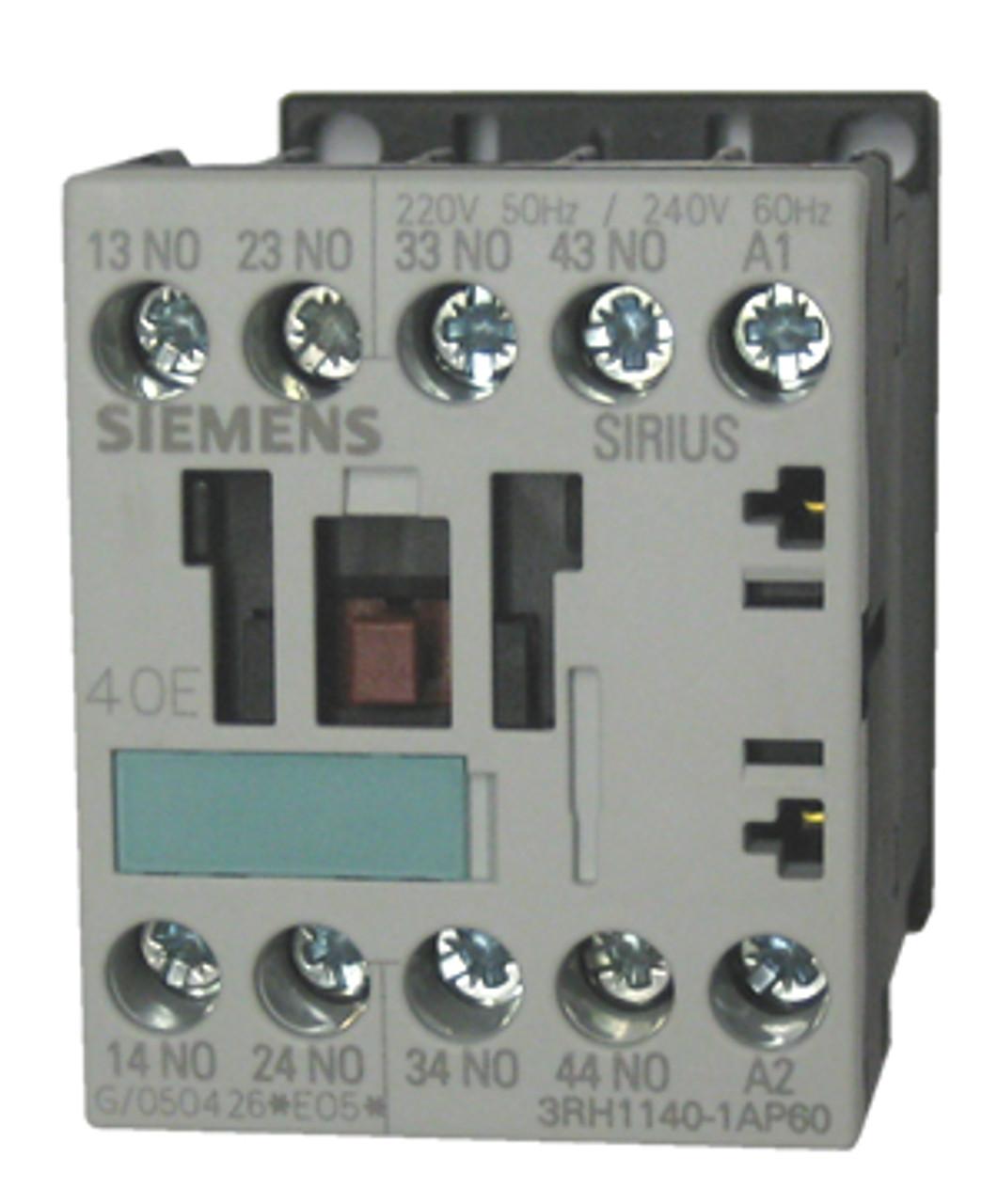 Siemens 3RH1140-1AP60 4 pole control relay