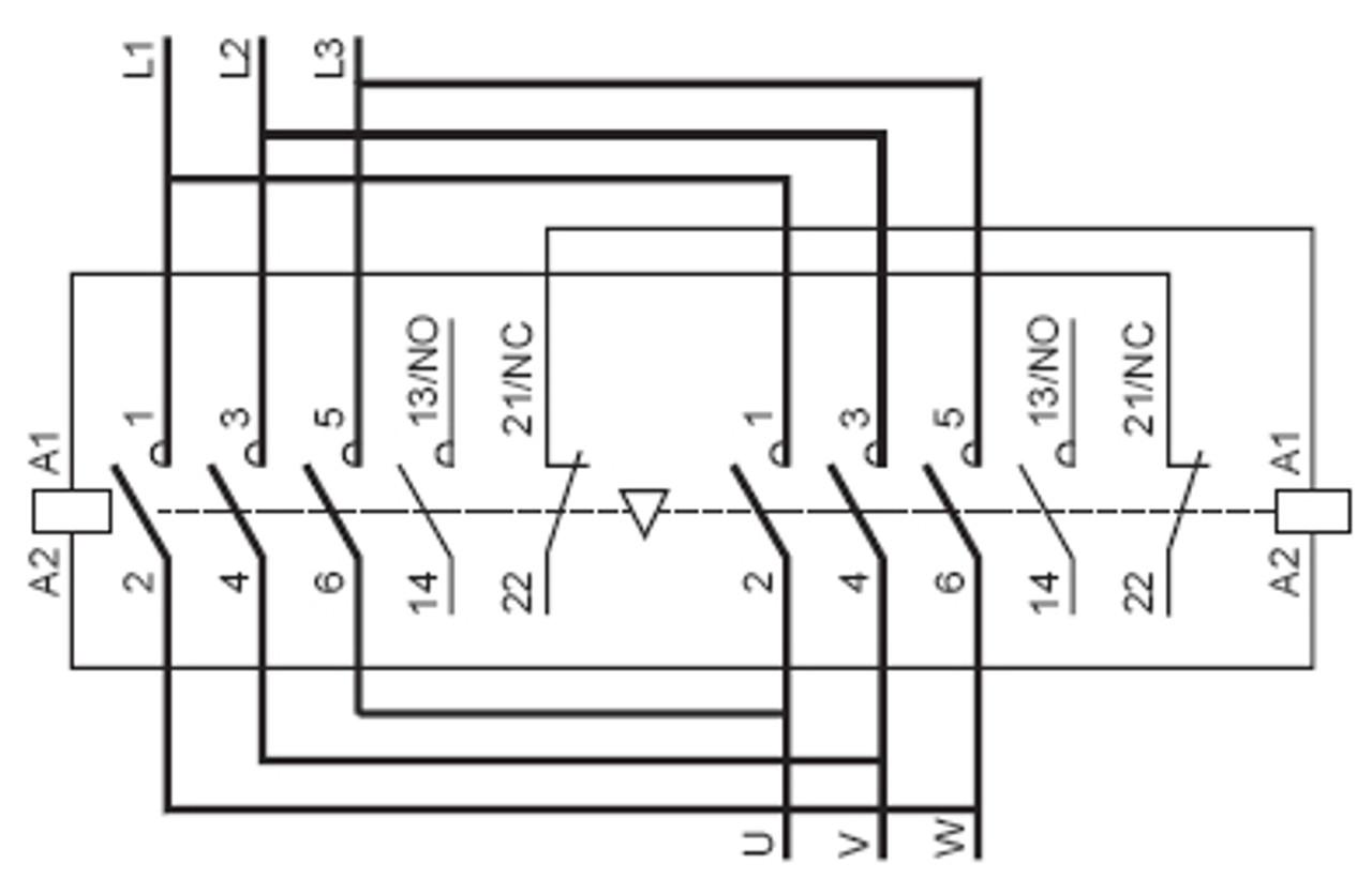 Square D    Telemecanique Lc2d32g7 Reversing Contactor