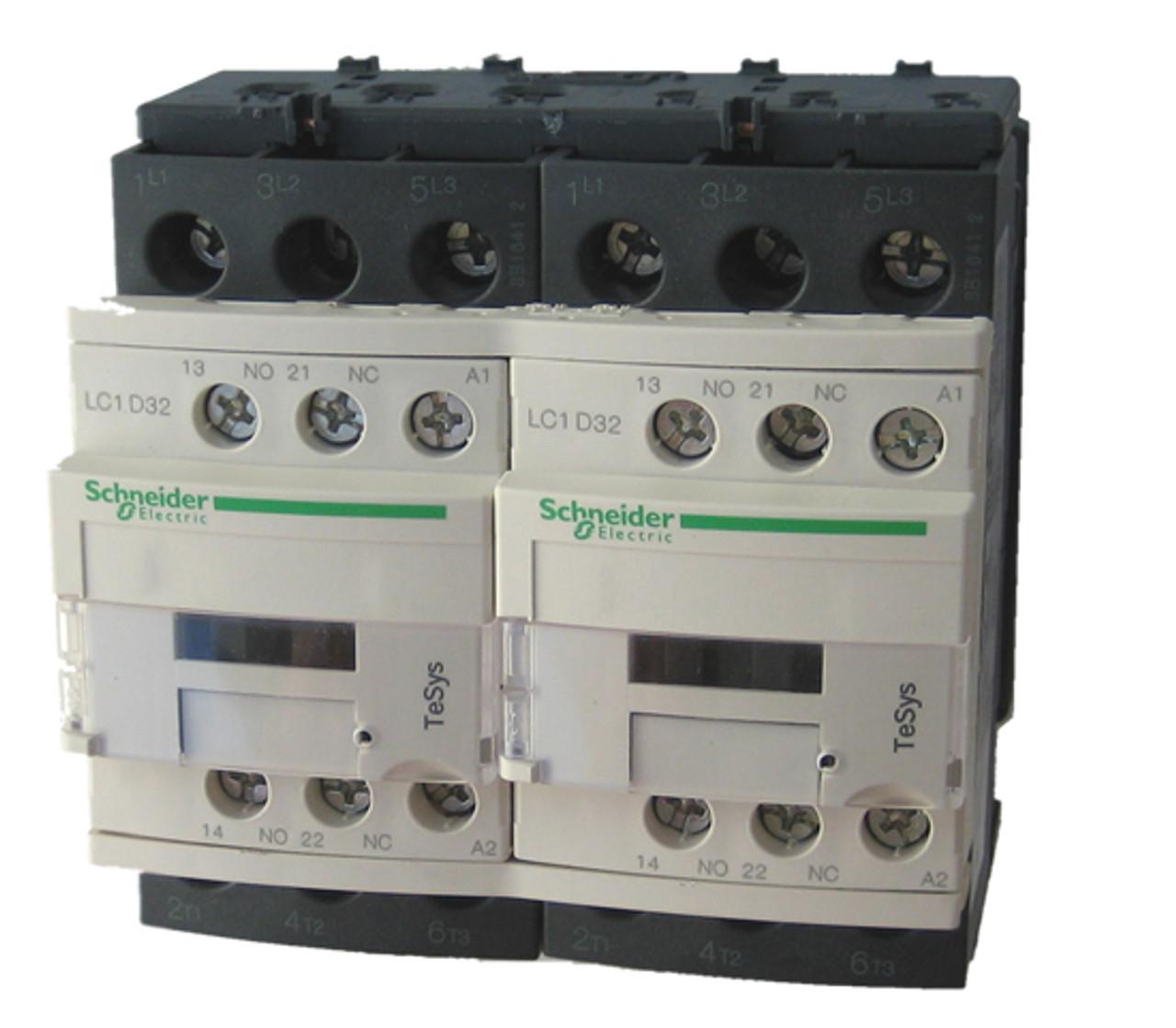 LC1D32G7-Schneider Electric Contactor 3POLE 32AMP 120VOLT Din Rail LC1