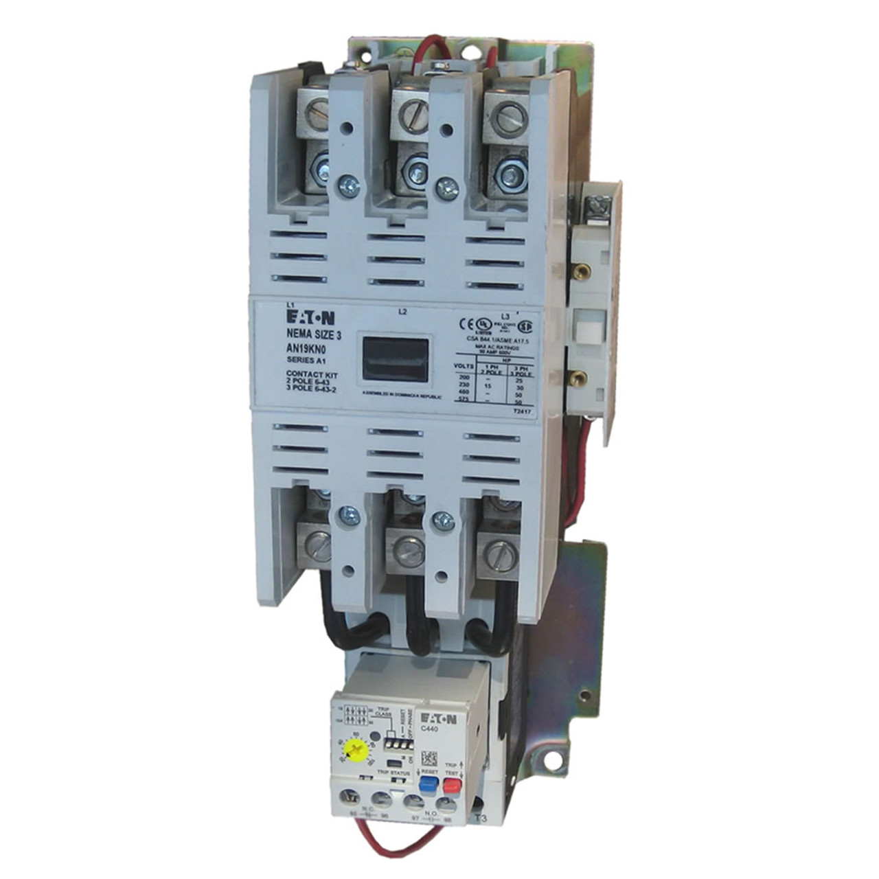 Eaton AN19KN0 90 AMP NEMA Size 3 Starter With Electronic