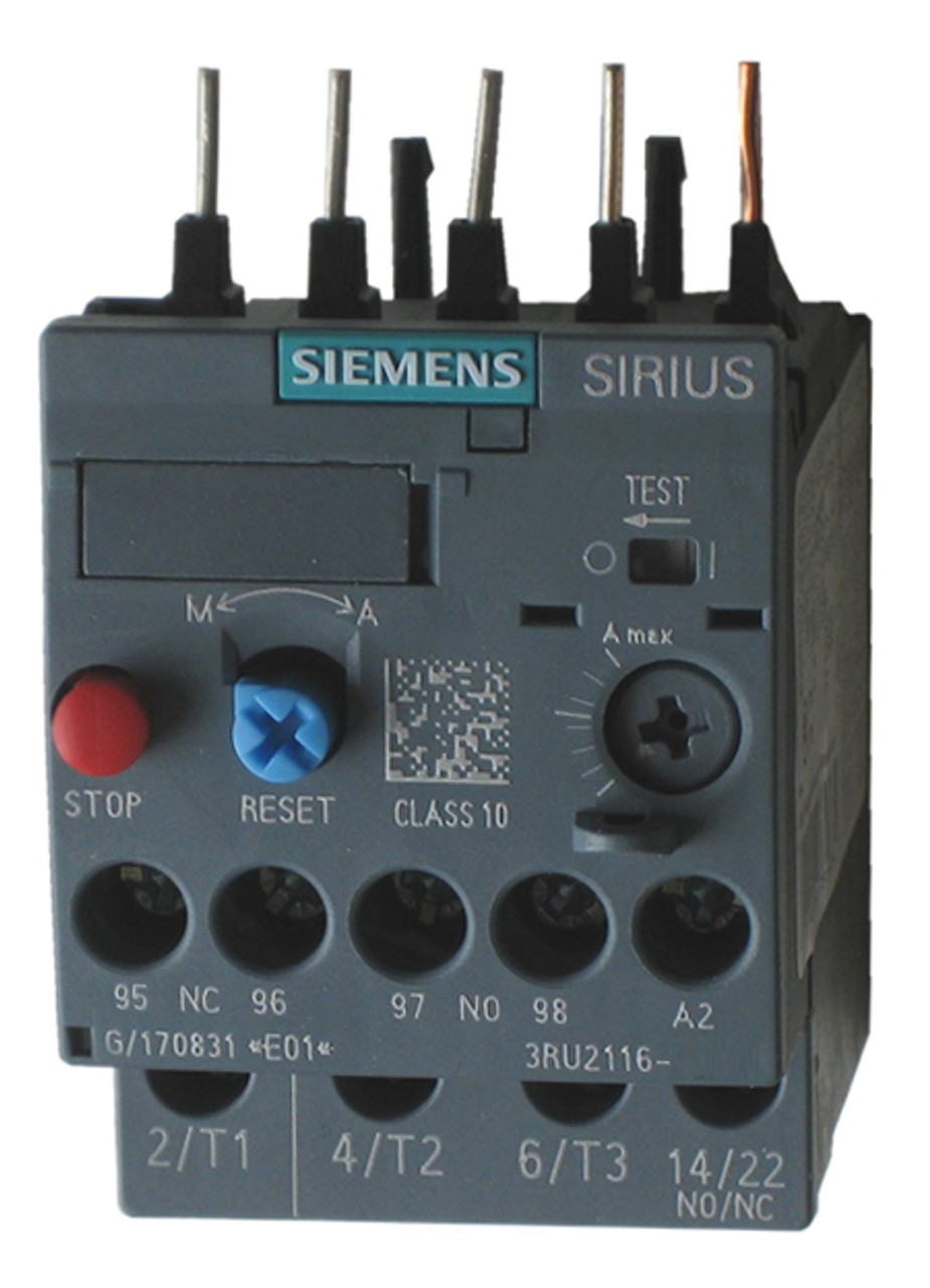 Class 10 Manual//Automatic Reset Screw Terminal 1.1 to 1.6 Amp Contactor Mounting Size S00 Siemens 3RU21161AB0 Thermal Overload Relay