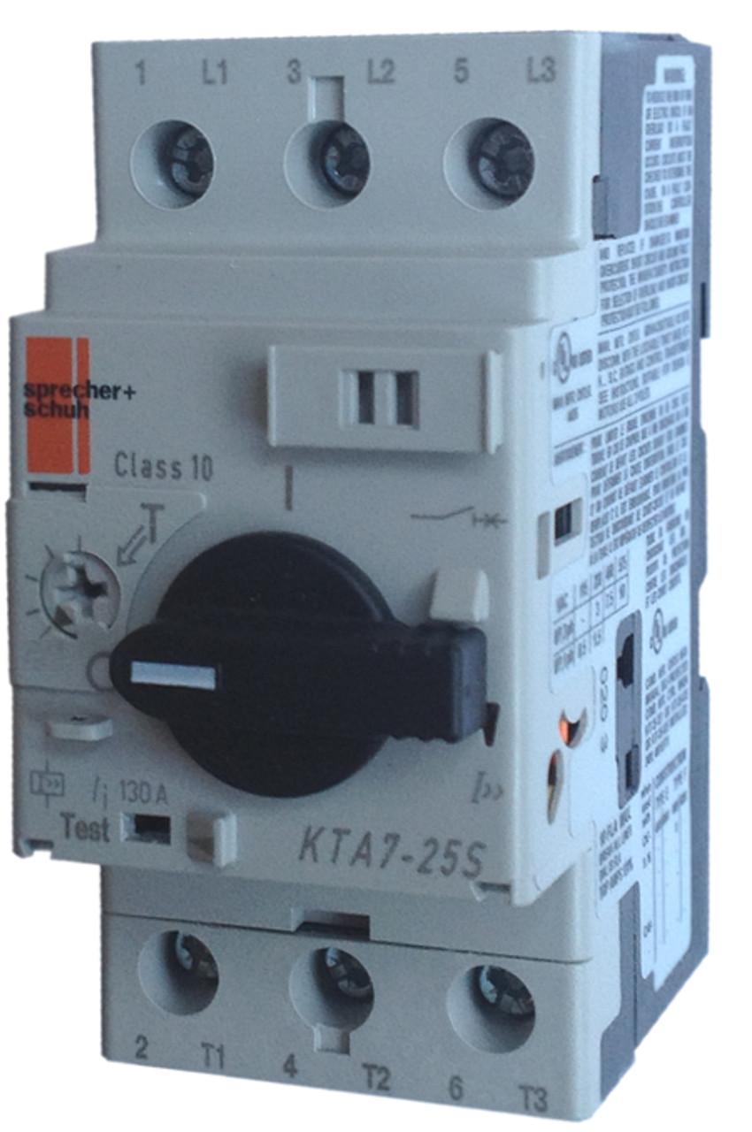 Sprecher Schuh KTA7-25S-20A Motor Protector Circuit Breaker 20A